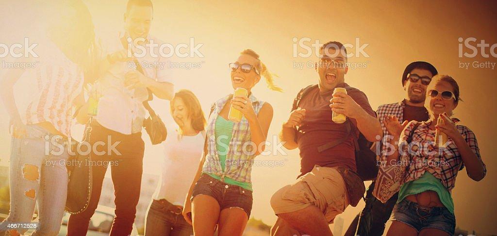 Friends having fun. stock photo