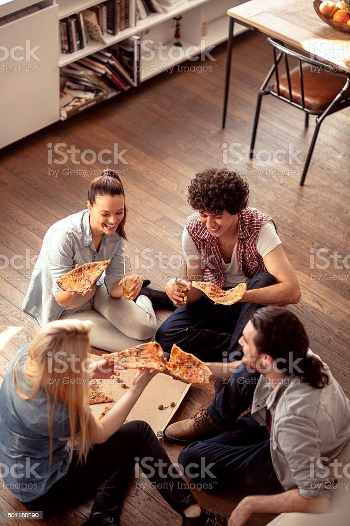 Friends having fun stock photo