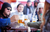 Friends Having Good Times After Skiing
