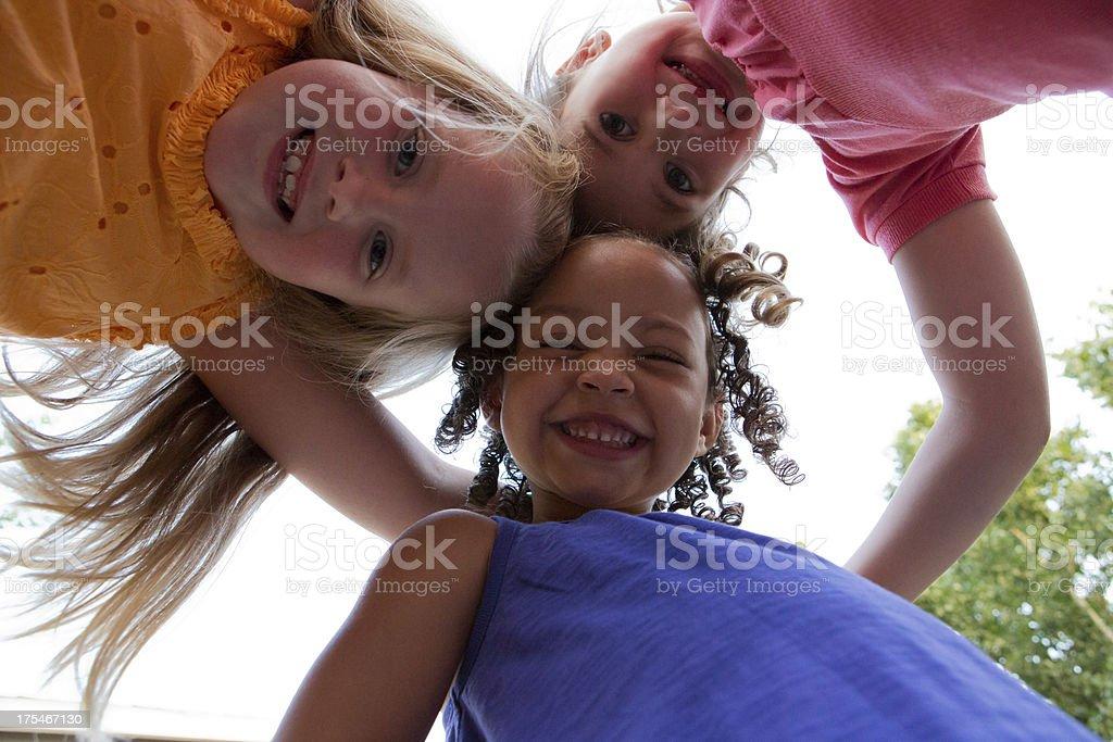 Friends Huddling royalty-free stock photo