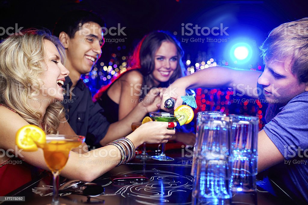 Friends in bar royalty-free stock photo