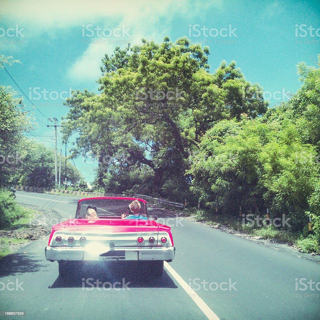 Friends in car - MobileStock stock photo