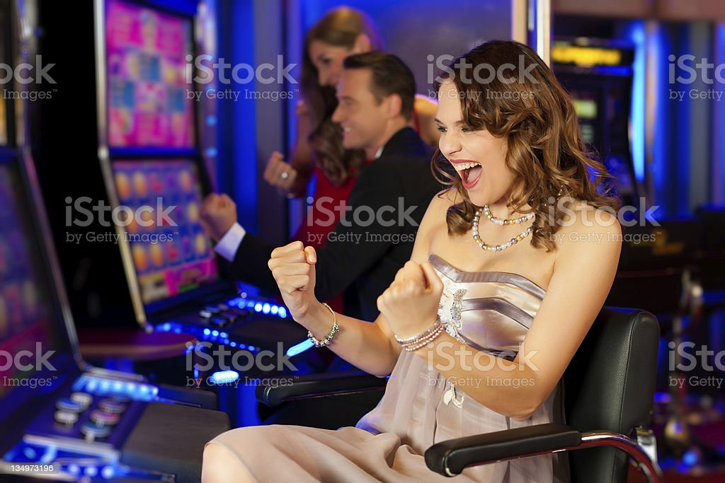 Friends in Casino royalty-free stock photo
