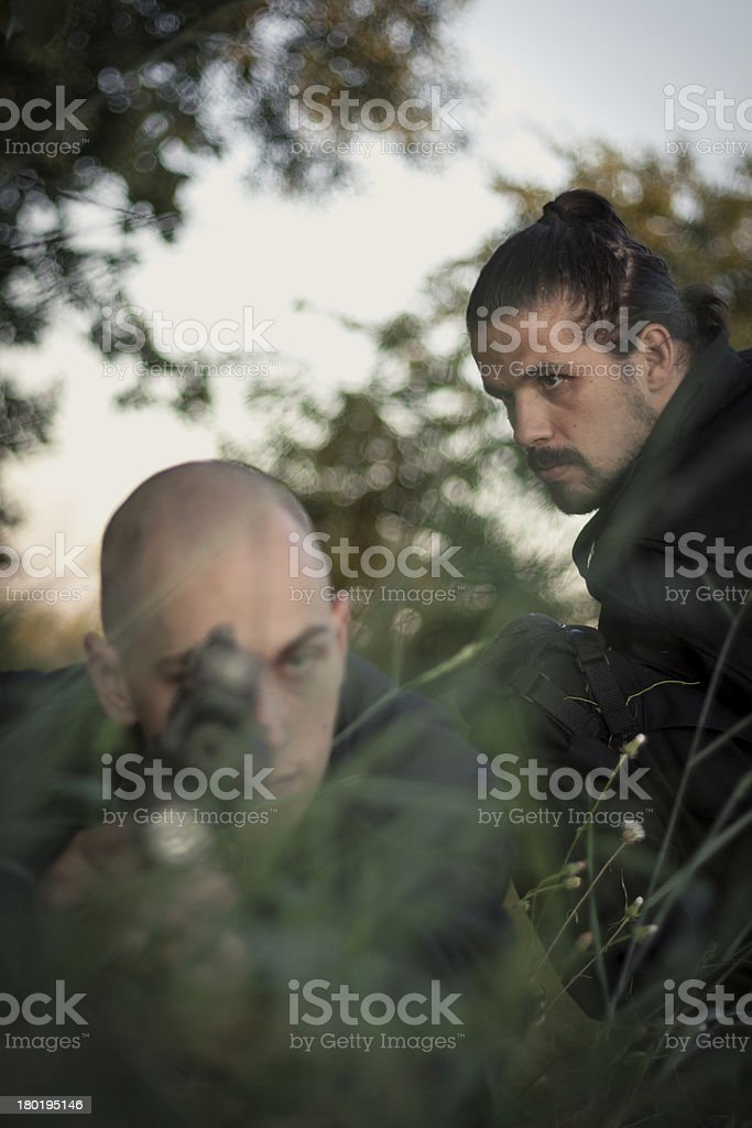Friends in Combat royalty-free stock photo