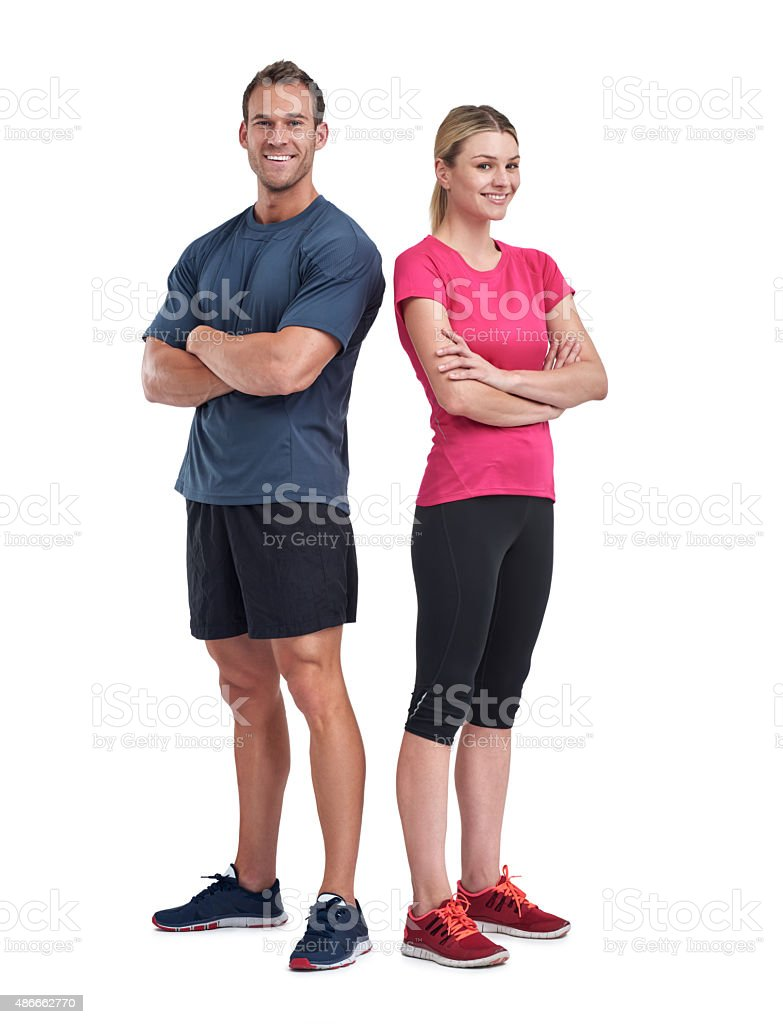 Friends in fitness stock photo