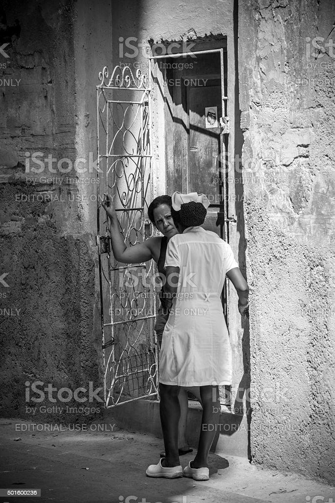 Friends in Old Havana stock photo