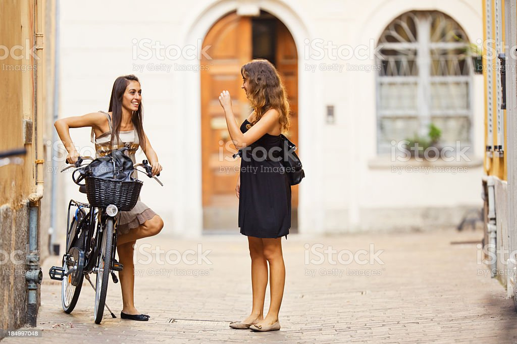 Friends in the City royalty-free stock photo