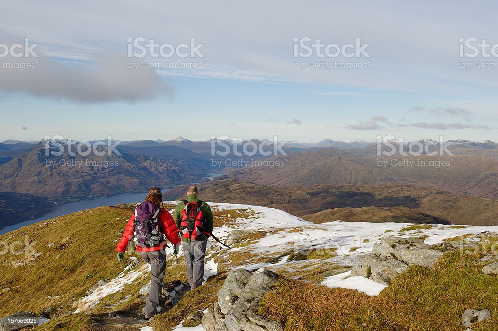 Friends in the hills royalty-free stock photo