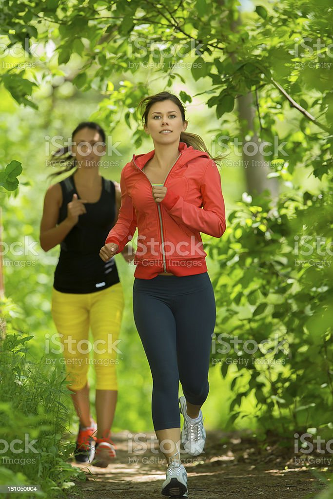 Friends Jogging royalty-free stock photo