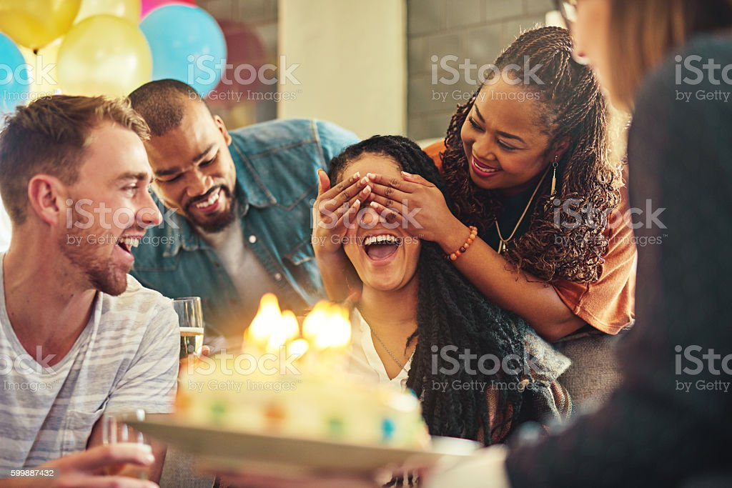 Friends know just how to make you feel special stock photo