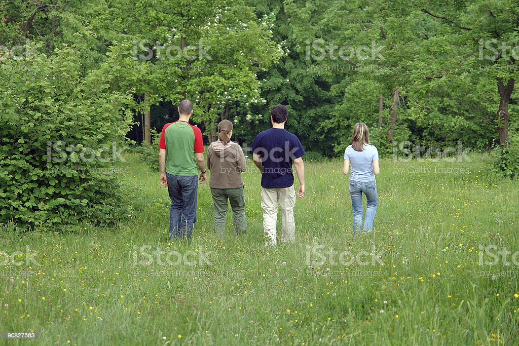 Friends leaving stock photo