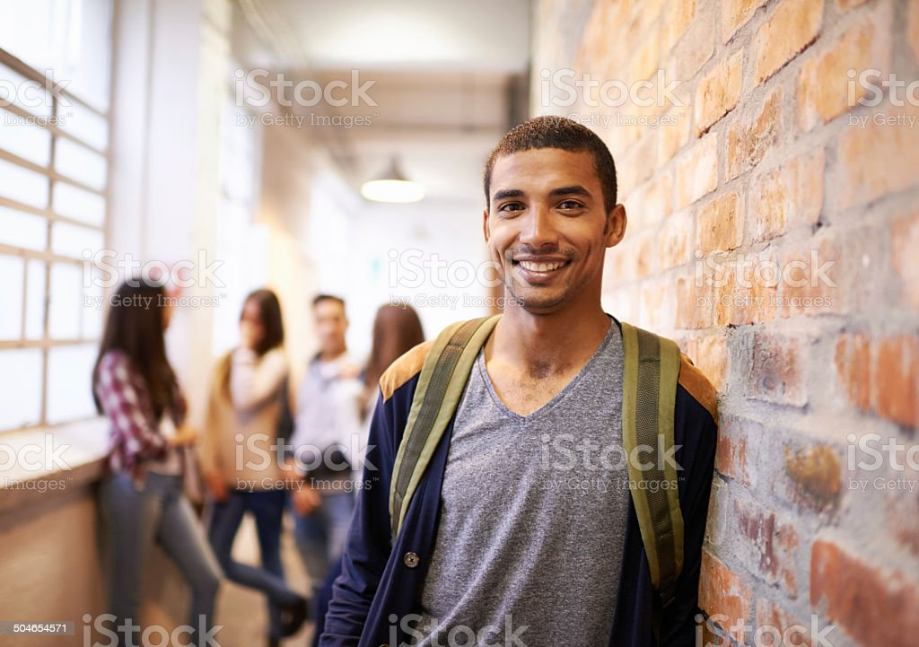 Friends make college fun stock photo