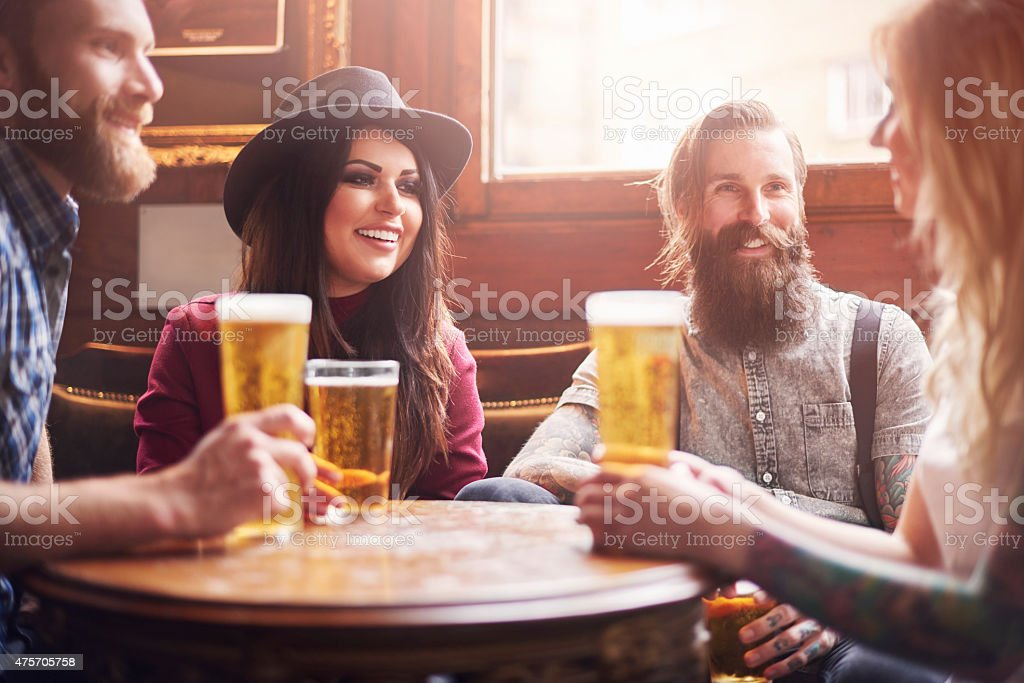 Friends make your life funnier stock photo