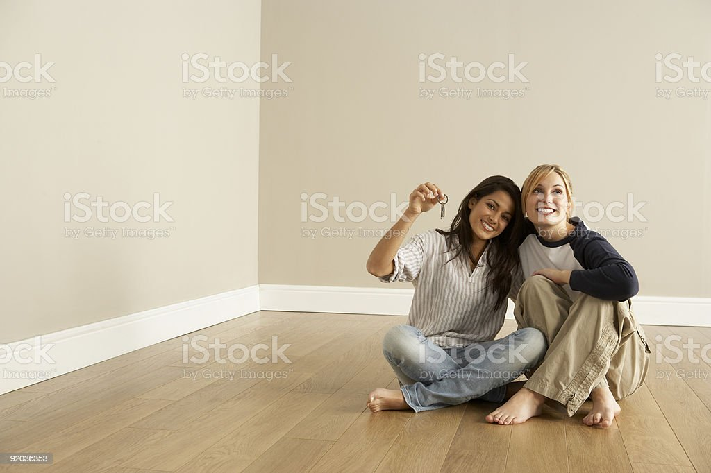 Friends Moving Into New Home stock photo