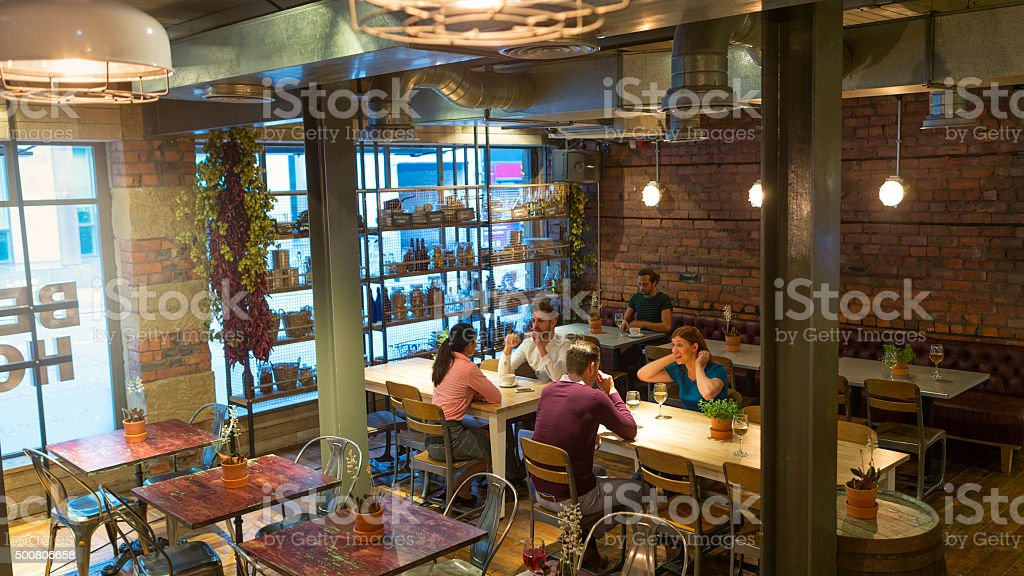 Friends Night Out stock photo