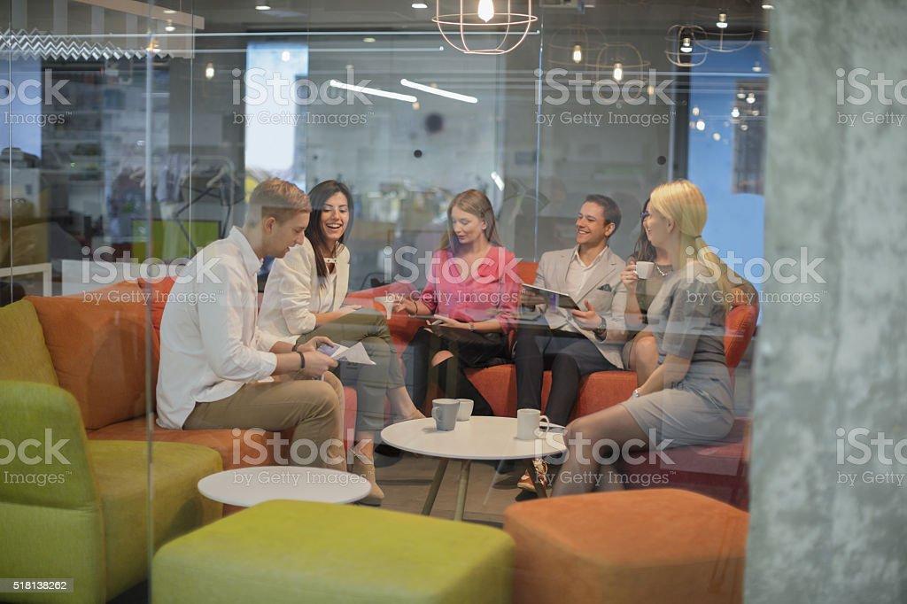 Friends on a break stock photo
