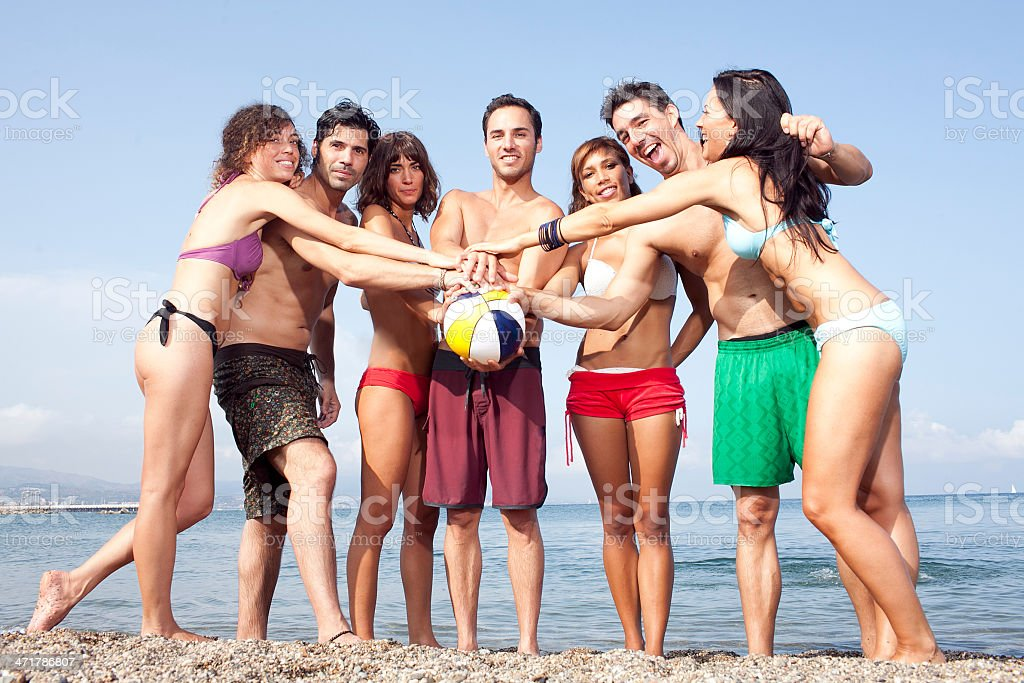 Friends on holidays royalty-free stock photo