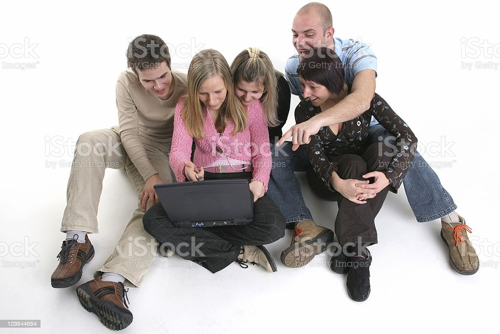Friends on irc royalty-free stock photo
