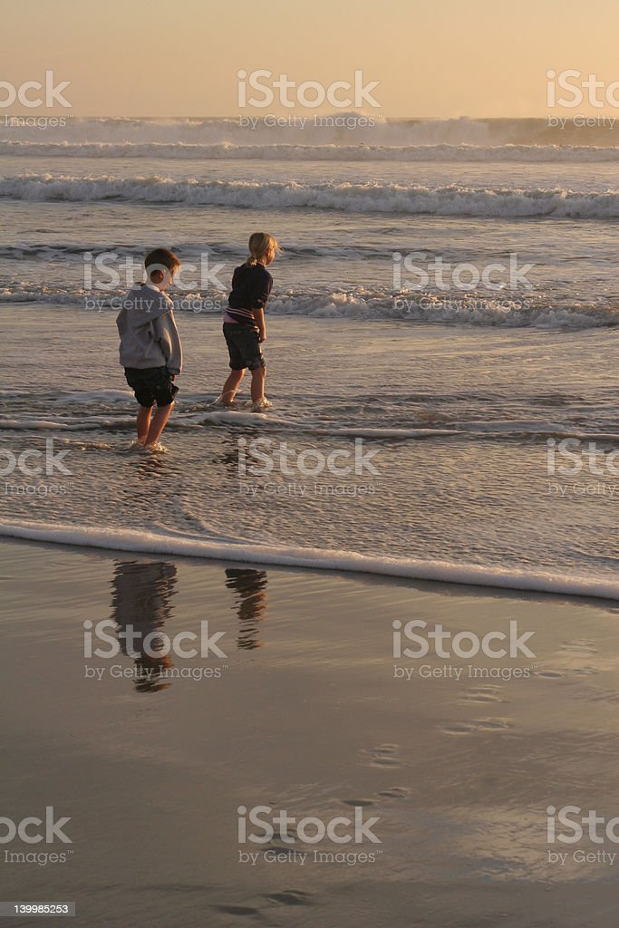 Friends On The Beach 1 royalty-free stock photo