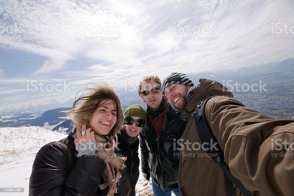 Friends Outdoors royalty-free stock photo