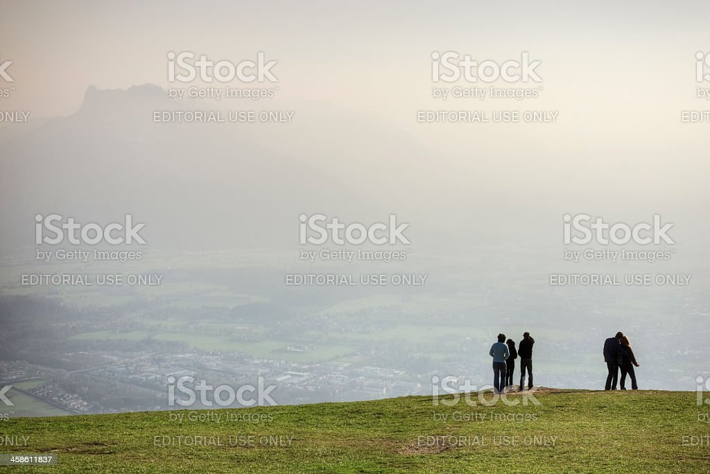 Friends Outdoors stock photo