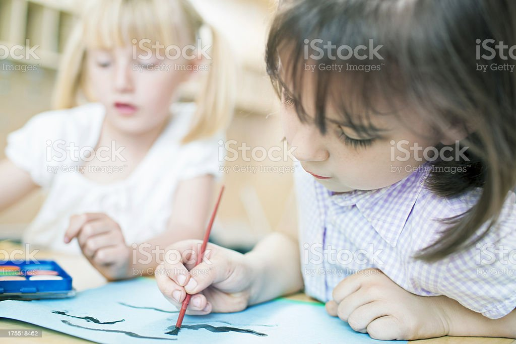 Friends painting royalty-free stock photo