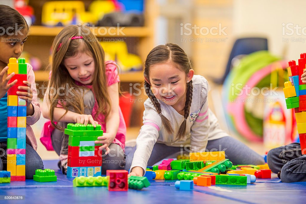 Friends Playing Together in Class stock photo