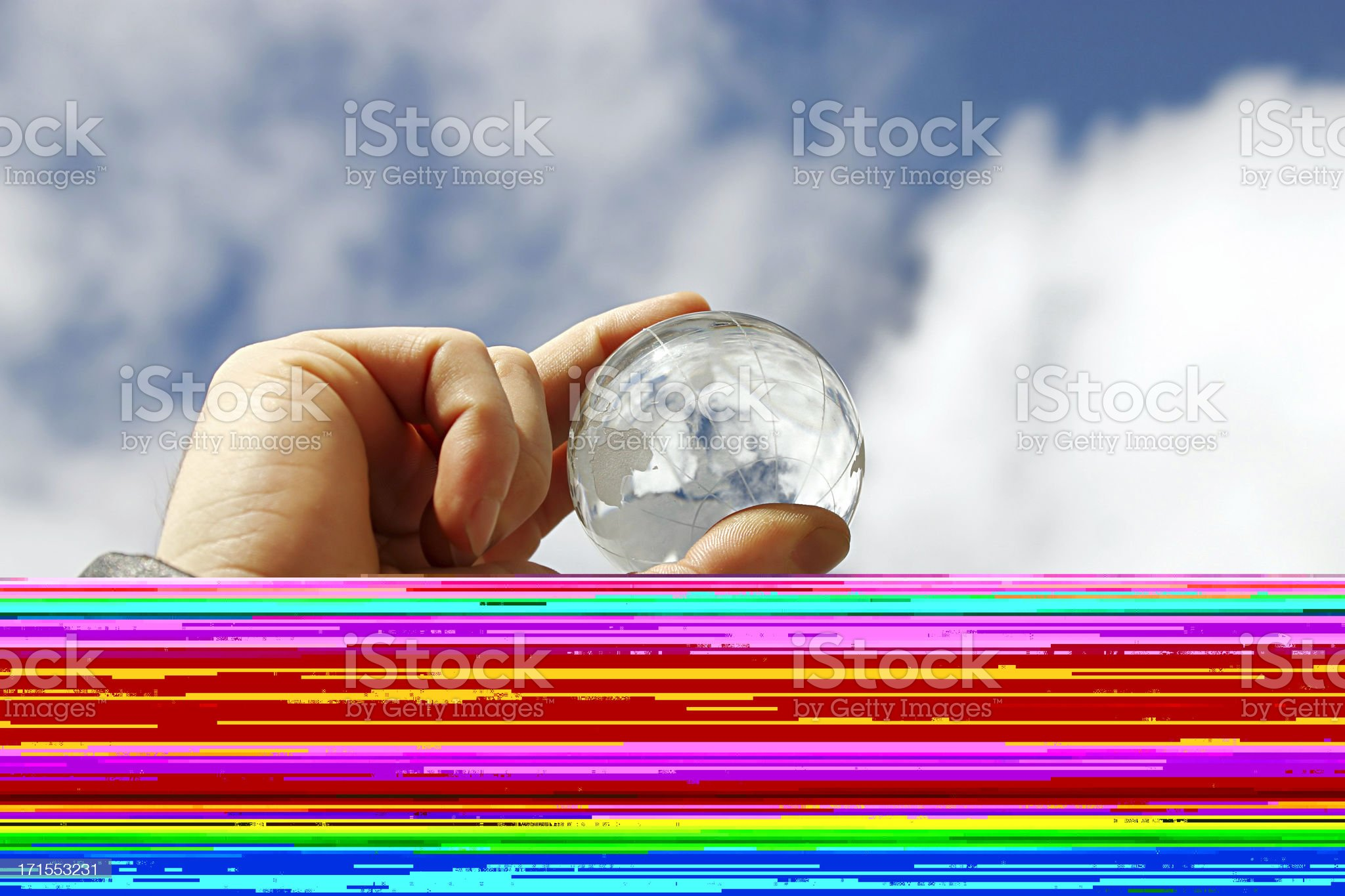 Friends playing with a globe's ball royalty-free stock photo