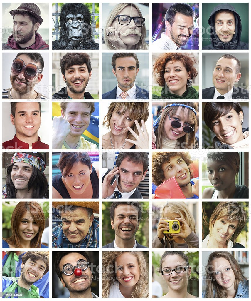 Friends Profiles on Social Network stock photo