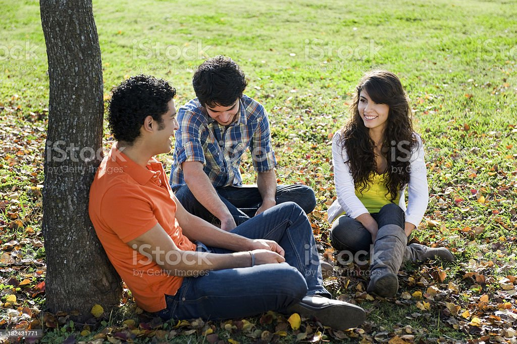 Friends relaxing royalty-free stock photo