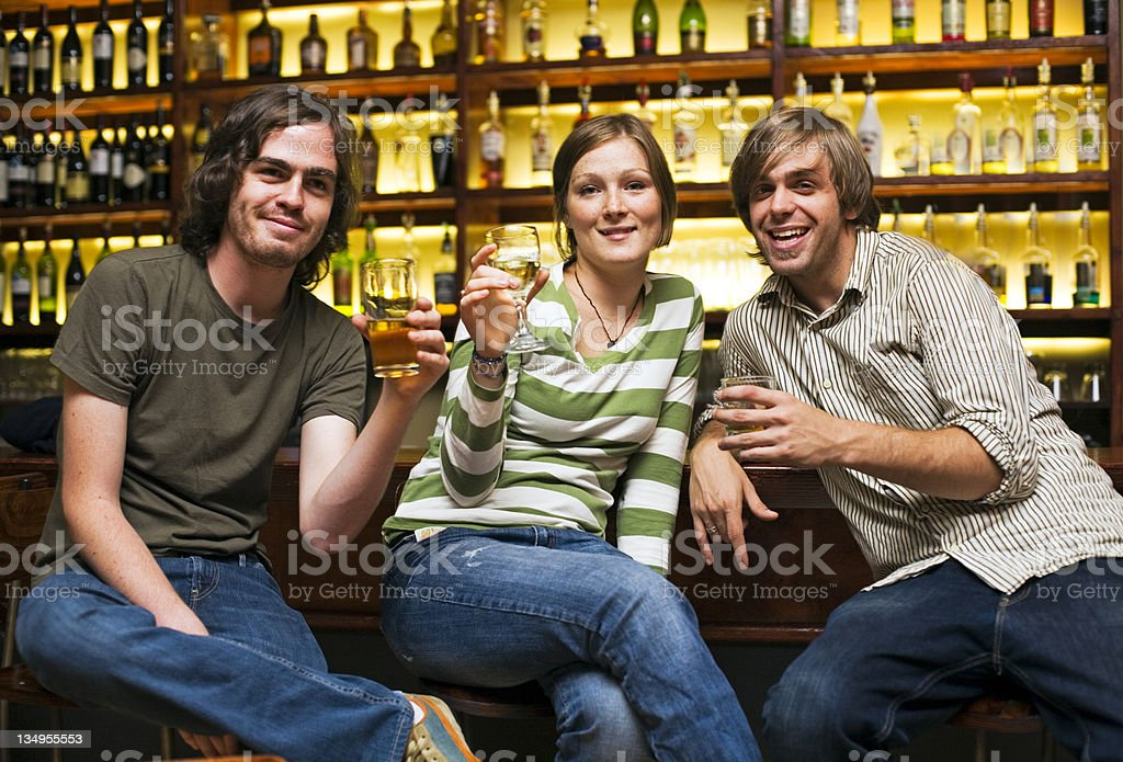 Friends say cheers royalty-free stock photo