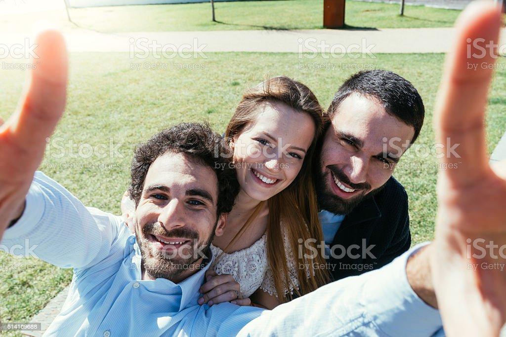 Friends Selfie stock photo