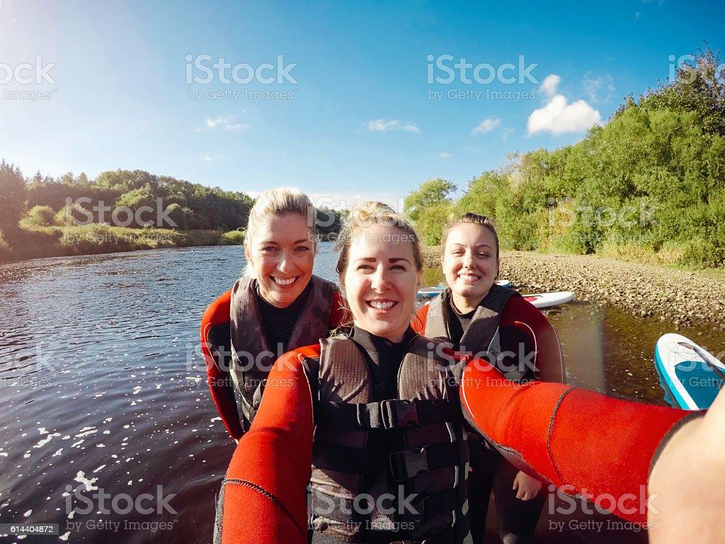 Friends Selfie! stock photo
