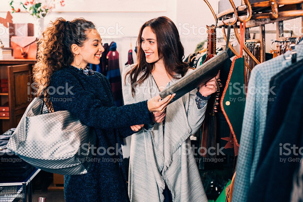 Friends Shopping stock photo