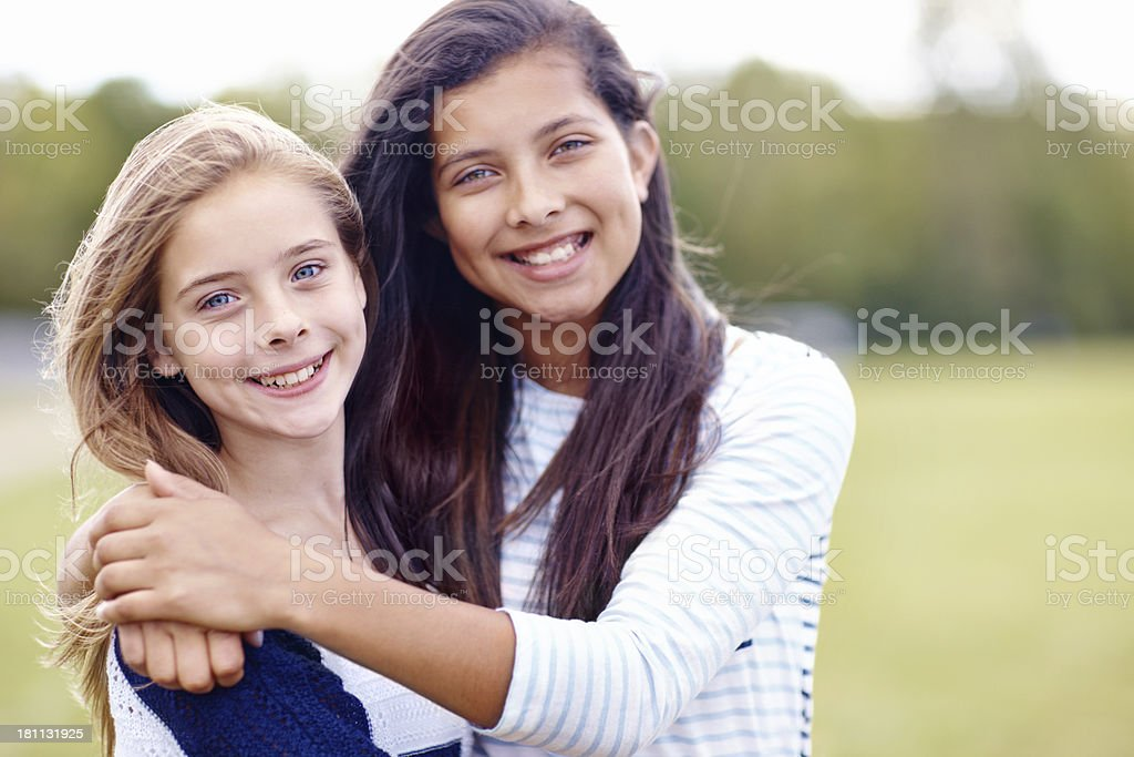 Friends since they were little... royalty-free stock photo