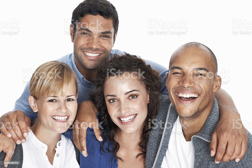 Friends smiling together royalty-free stock photo