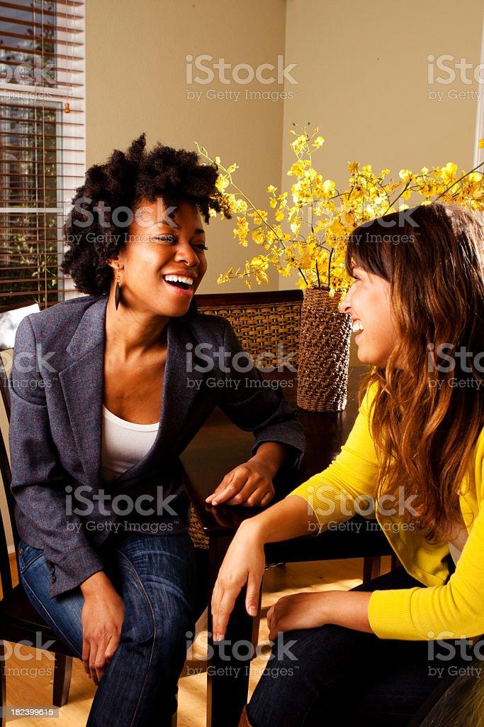 Friends Talking royalty-free stock photo