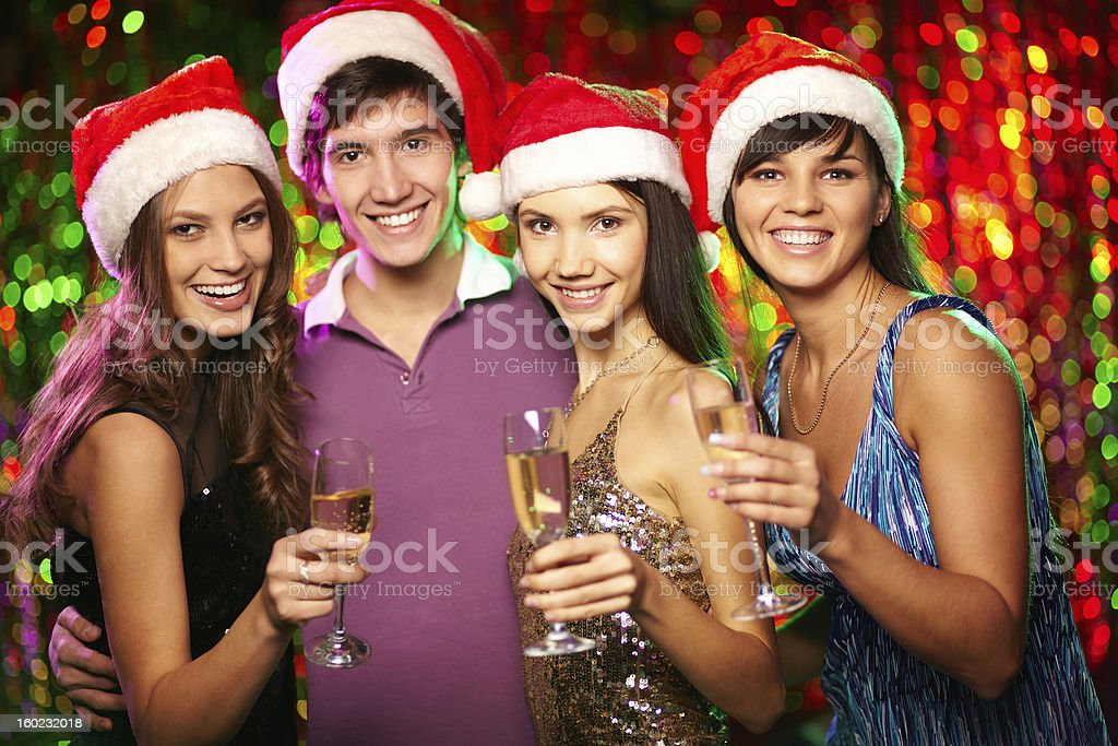 Friends toasting royalty-free stock photo