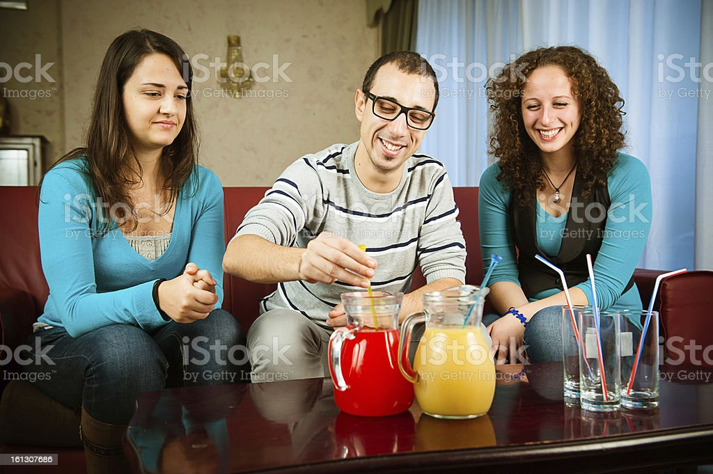 Friends toasting together royalty-free stock photo