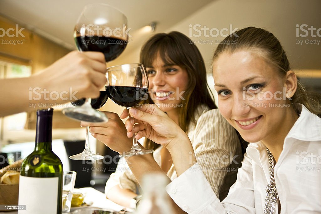 Friends toasting XXL royalty-free stock photo