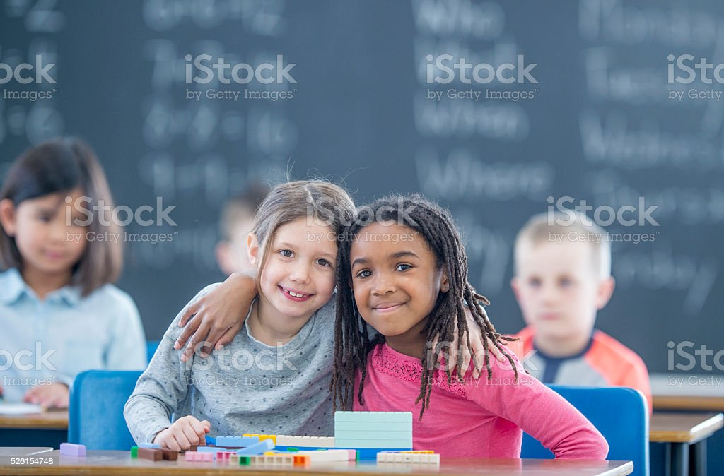 Friends Together in Class stock photo