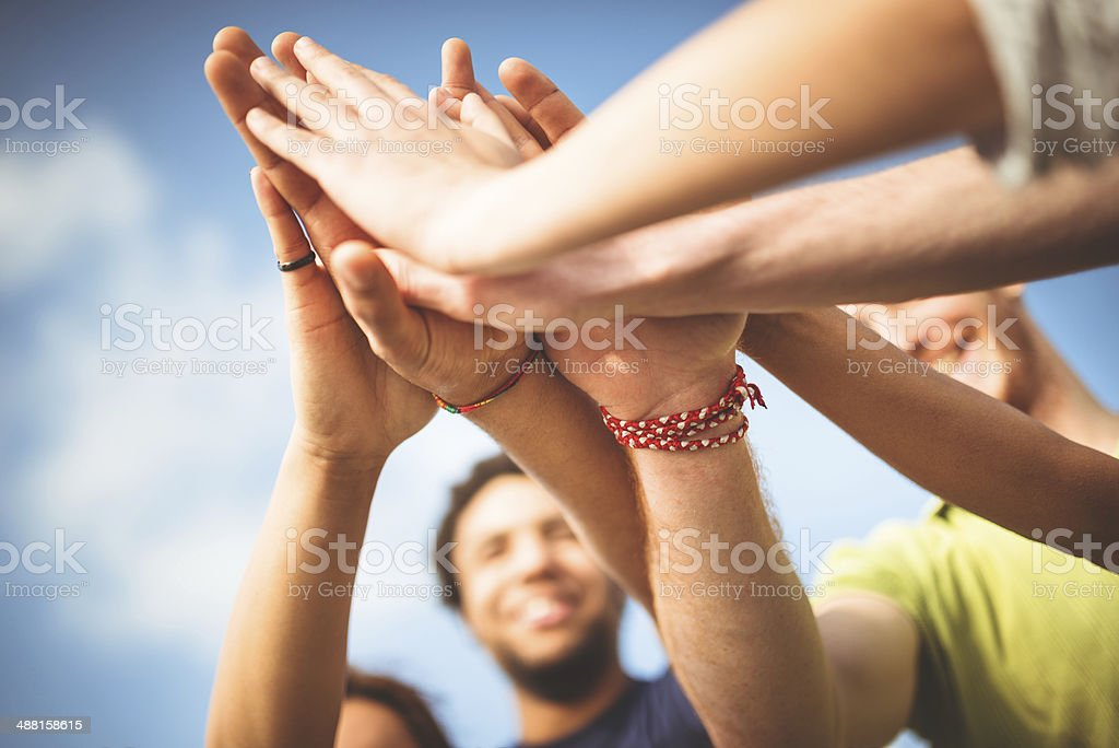 friends togetherness stock photo