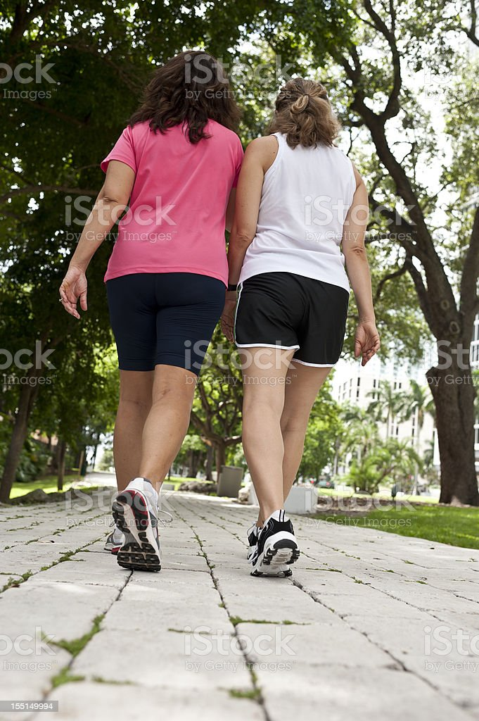 friends walikng in the park royalty-free stock photo
