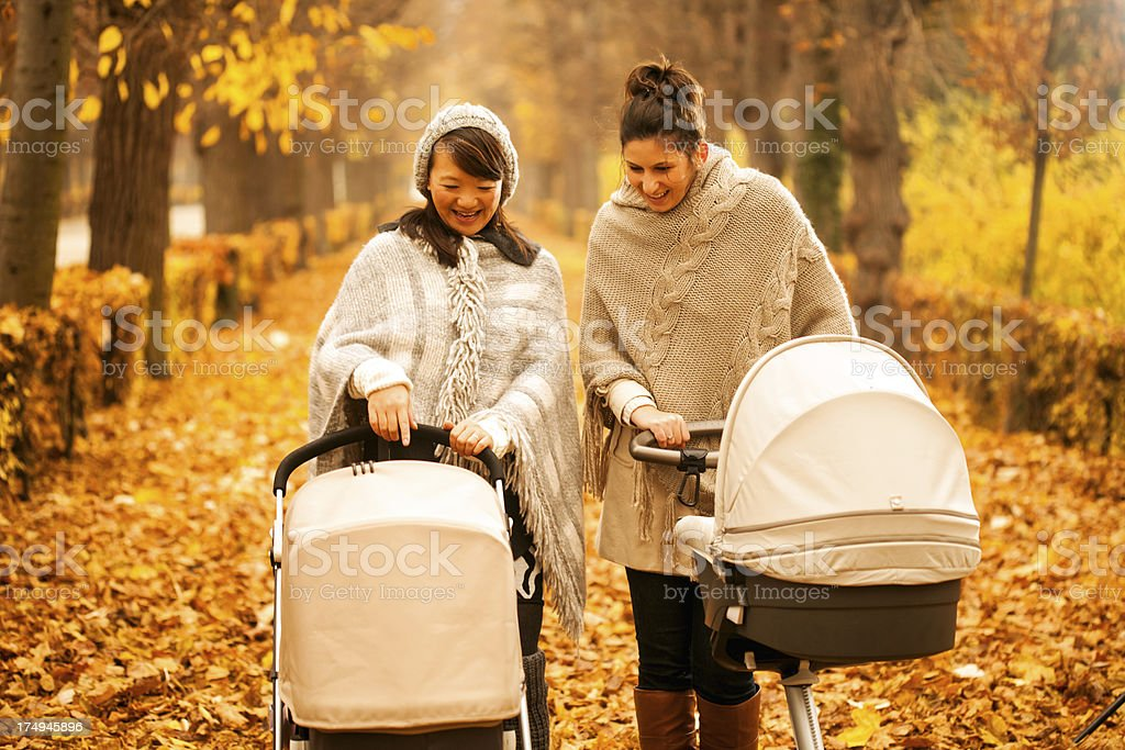 Friends with babies royalty-free stock photo