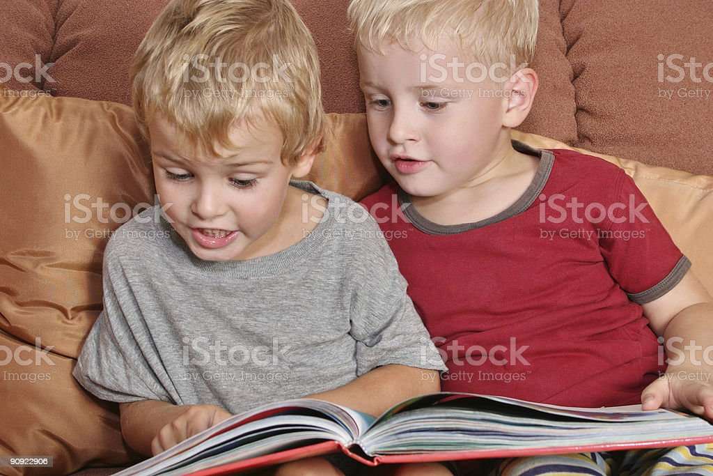 friends with book stock photo