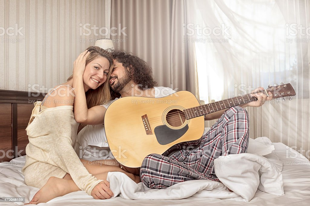 Friends With Guitar royalty-free stock photo