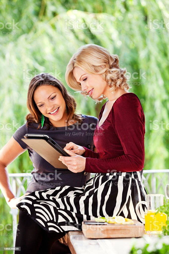 Friends with Tablet Computer royalty-free stock photo