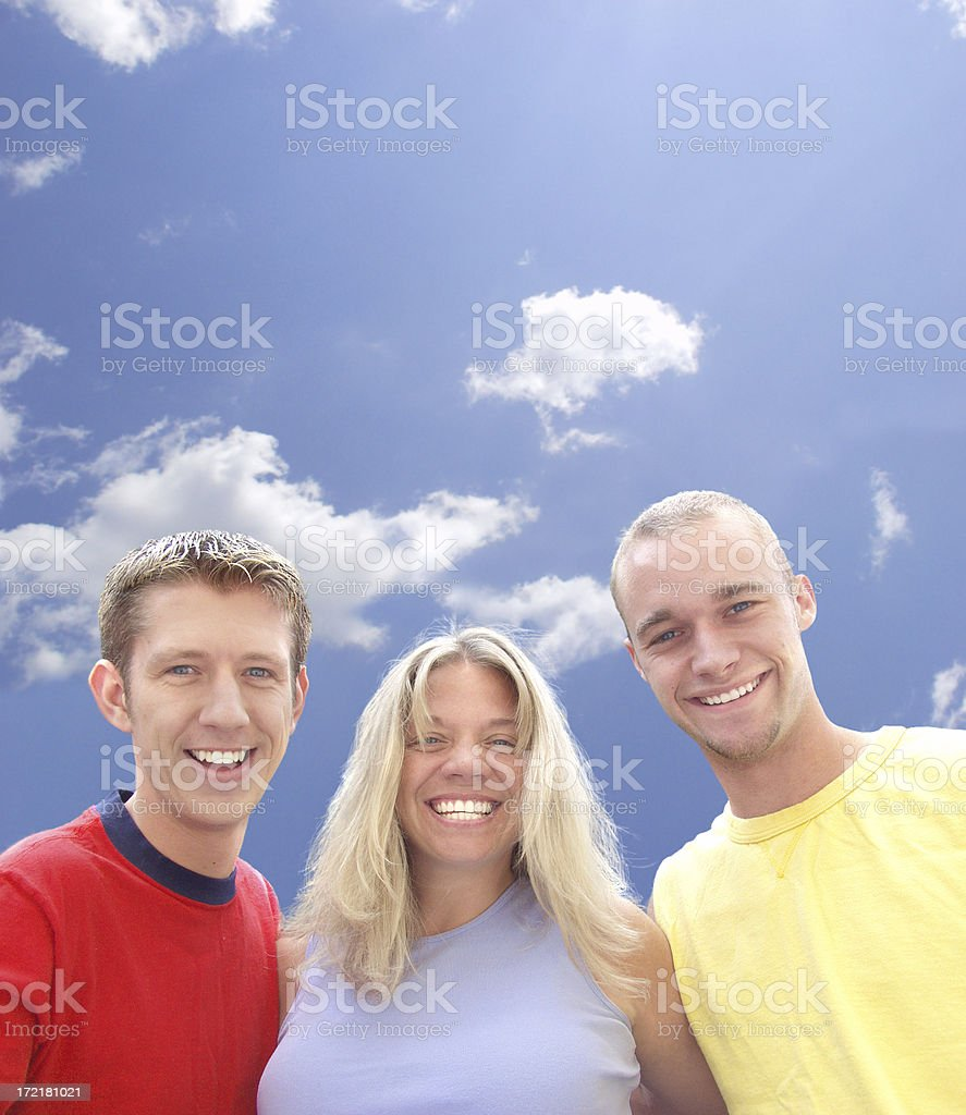 friends w/path royalty-free stock photo