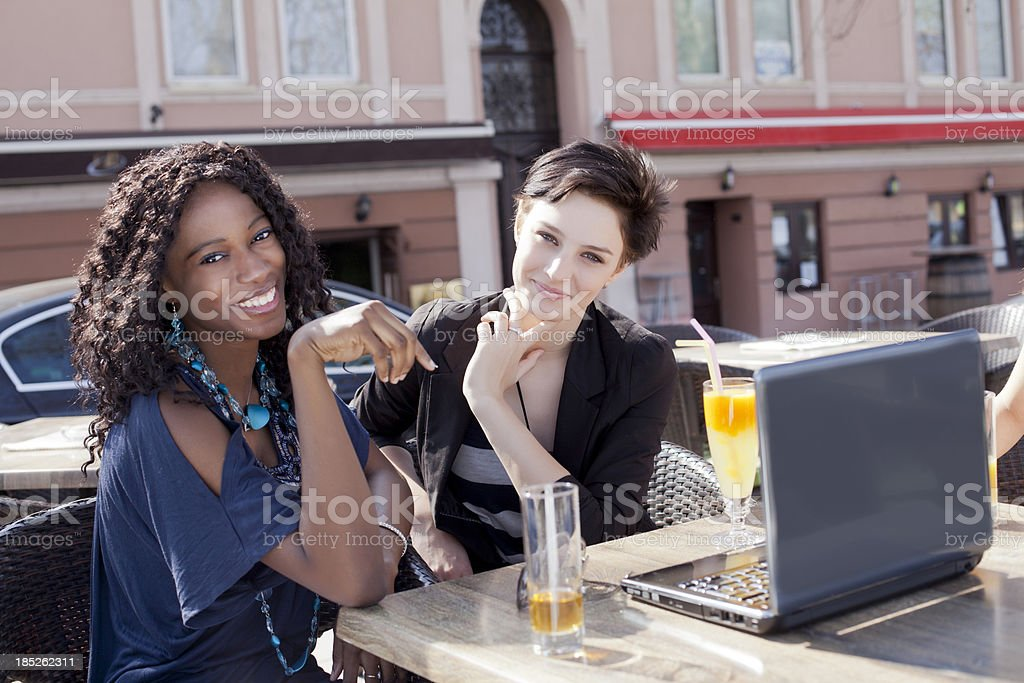 Friendship and shopping royalty-free stock photo