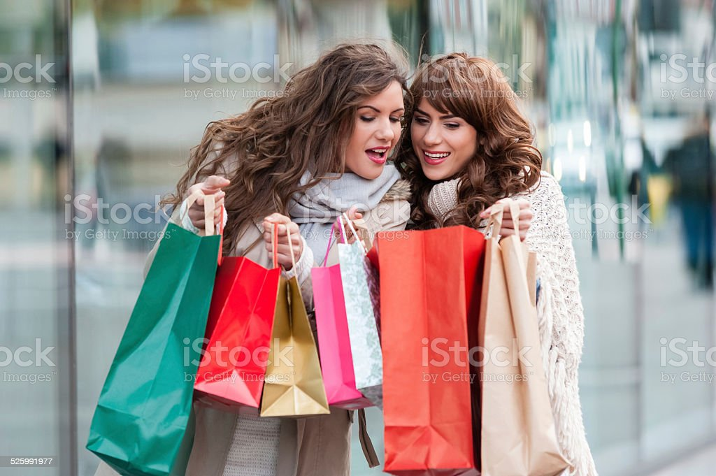 Friendship and shopping stock photo